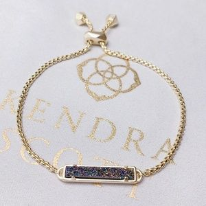 New Kendra Scott Gold Multicolor Drusy Stan